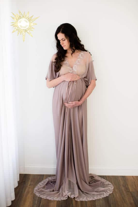 e3b319fb629b9 Night Gown Dress. (image via Etsy). I love the look for a night gown dress  for maternity ...